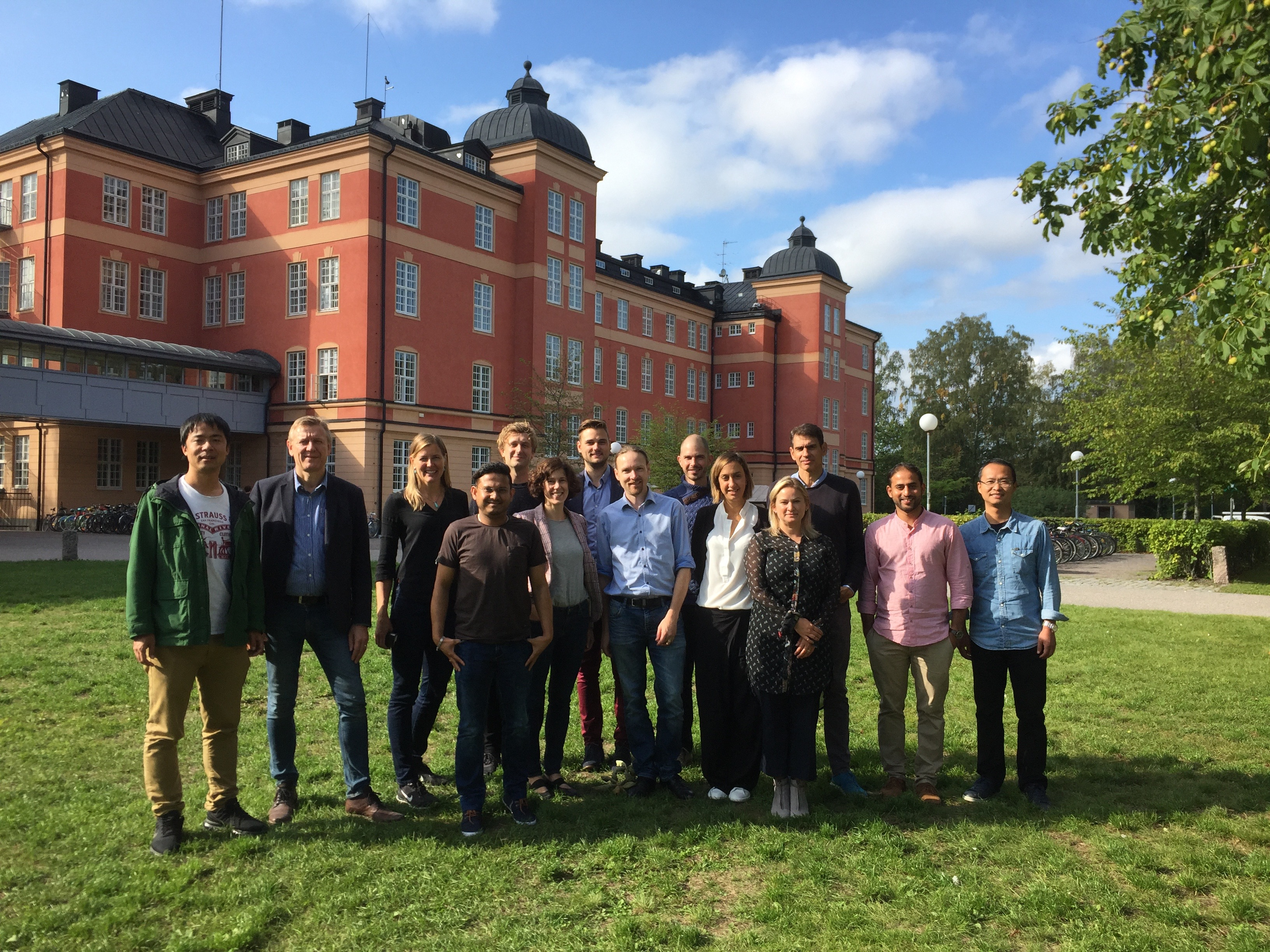Group picture of Sysmic network meeting in Uppsala, September 6th, 2018